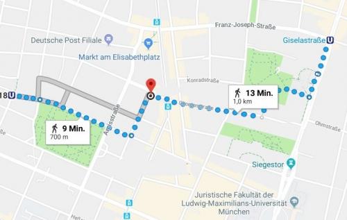 Wegbeschreibung Ali Bey Restaurant U-Bahn Josephsplatz