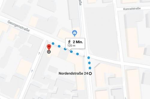 Wegbeshreibung zu Ali Bey Restaurant Tram Haltestelle Nordendstraße
